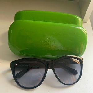 Kate spade black sunglasses with green case